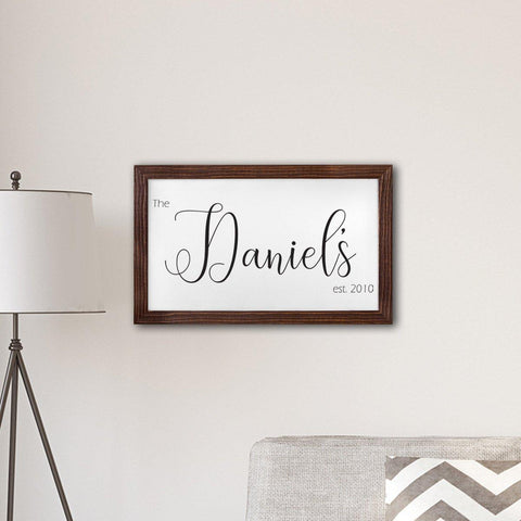"Personalized Framed Last Name Modern Farmhouse 14"" x 24"" Canvas -  - Canvas Prints - AGiftPersonalized"