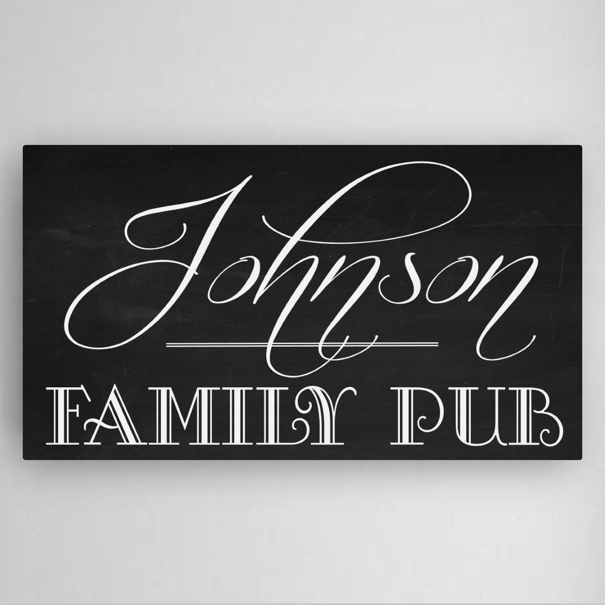 Personalized Family Name Pub Sign