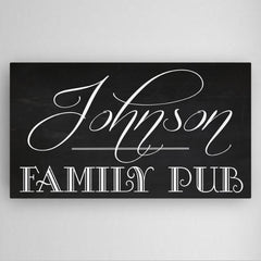 Personalized Family Pub Canvas Sign