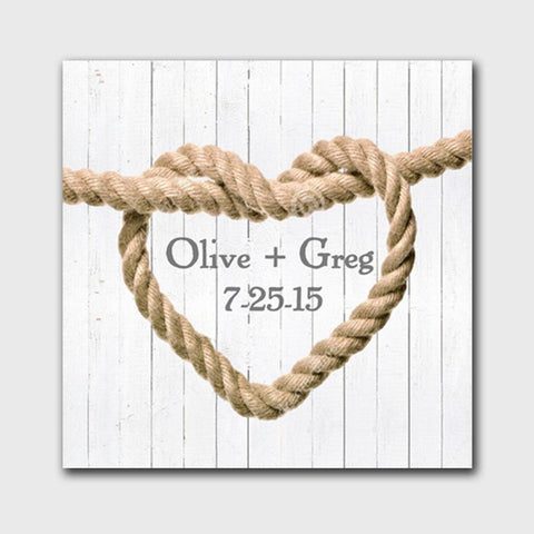 Personalized Signs - Canvas Prints - Knot - Wedding Gifts - White - Canvas Prints - AGiftPersonalized