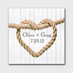 Personalized Knot Canvas Signs