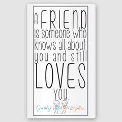 Personalized Friends Canvas Sign -