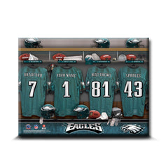 Personalized NFL Locker Room Canvas Signs -