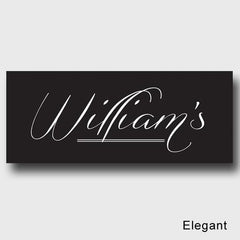 Personalized Family First Canvas Sign - Classic, Elegant, or Script - Elegant - Canvas Prints - AGiftPersonalized