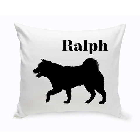 Monogrammed Dog Throw Pillow -  Classic Silhouette - SiberianHusky - Pet Gifts - AGiftPersonalized