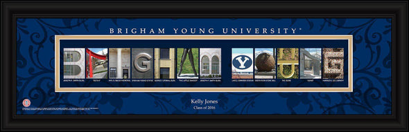 Personalized University Architectural Art - College Art - BrighamYoung - JDS