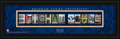 Personalized University Architectural Art - College Art - BrighamYoung
