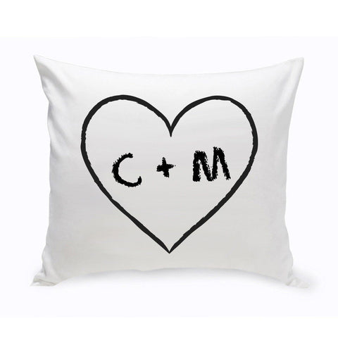 Personalized Couples Unity Throw Pillow - HeartOfLove