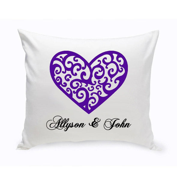 Personalized Couples Unity Throw Pillow - VintageHeart - JDS