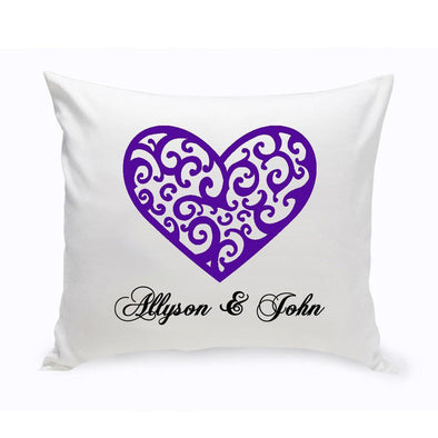 Personalized Throw Pillows - Personalized Couples Unity Vintage Heart -  - JDS