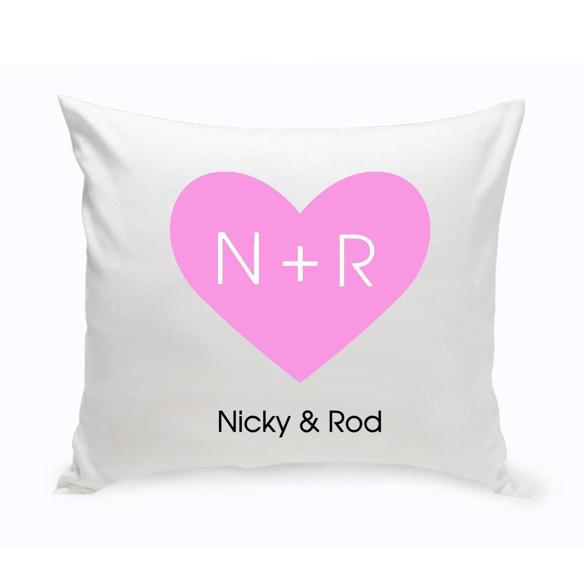 Personalized Couples Unity Throw Pillow