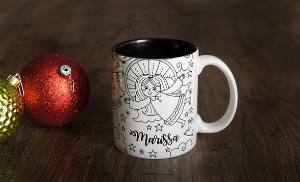Personalized Christmas Coloring Mug -  - Qualtry