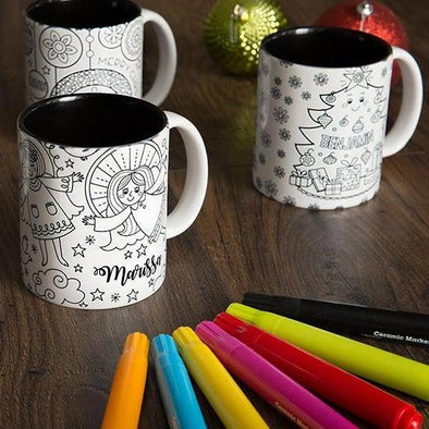 Personalized Christmas Coloring Mugs -  - Qualtry