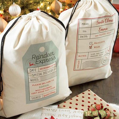 Personalized Jumbo Santa Gift Bags -  - Qualtry
