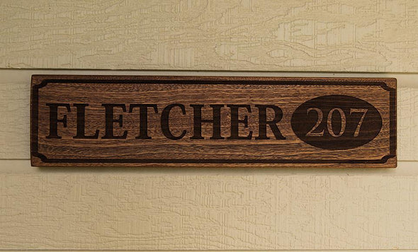 Perfectly Personalized House Signs (5X20) - Mahogany (darkest) - Qualtry