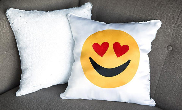 Love-themed Two-tone Sequin Pillow Covers -  - Qualtry