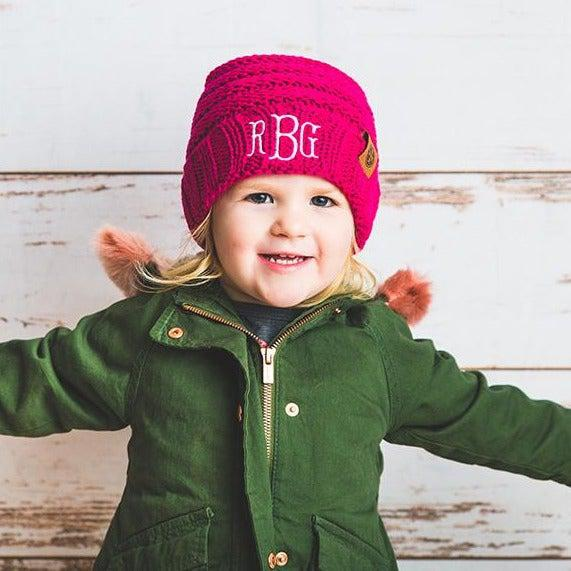 Kids Personalized Beanie Hats - Rose - Qualtry