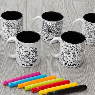 Personalized Coloring Mugs (Markers included) -  - Qualtry