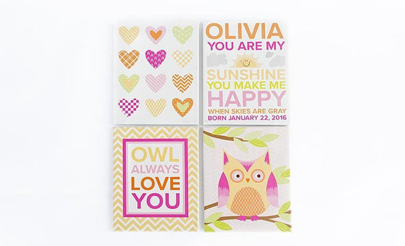 Personalized Baby Canvases - Set of 4! -  - Qualtry
