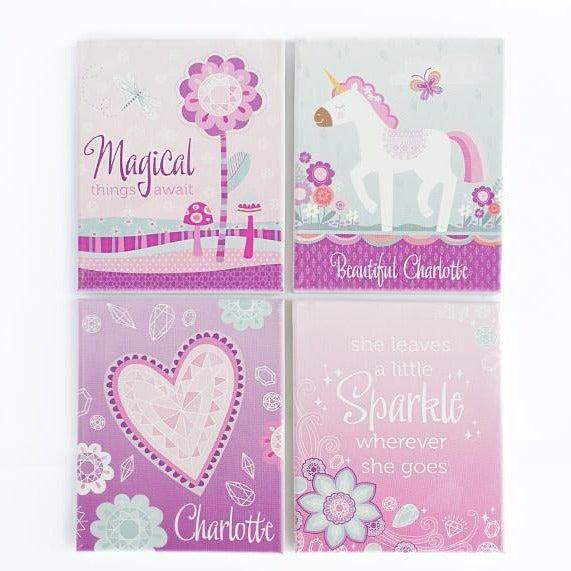 Personalized Baby Canvases - Set of 4!