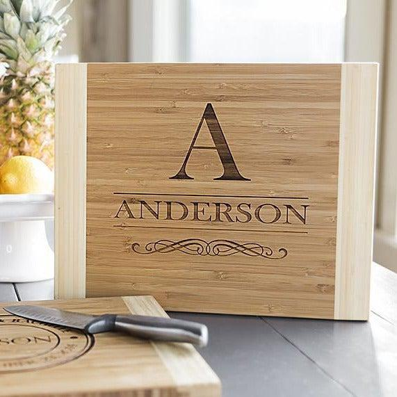 Personalized Bamboo Cutting Board 11x14 - 11 Styles!