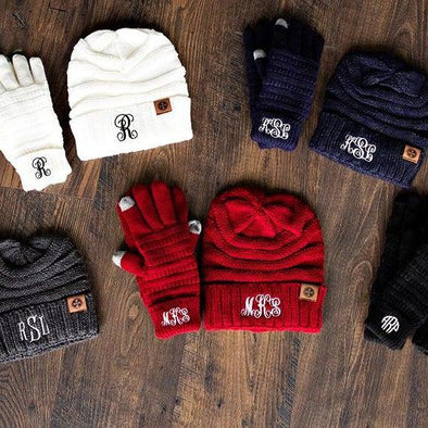 Personalized Beanie and Glove Bundle -  - Qualtry