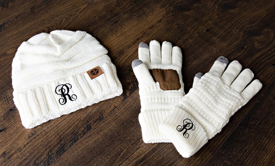 Personalized Beanie and Glove Bundle