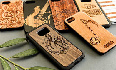 Personalized Wooden Phone Cases - Music Collection -  - Qualtry