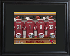 Personalized NFL Locker Sign w/Matted Frame - All Teams - Cardinals - Professional Sports Gifts - AGiftPersonalized