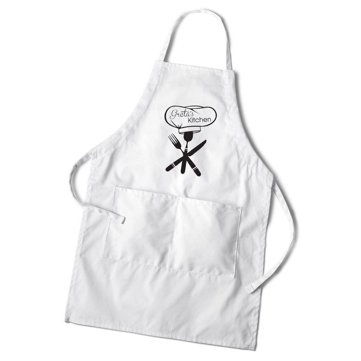 Personalized Women's Monogram White Apron