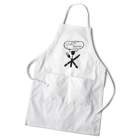 Personalized Women's Monogram White Apron -