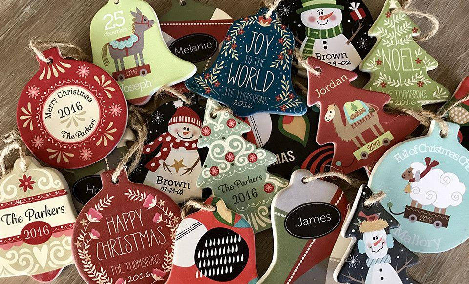 Personalized Porcelain Christmas Ornaments