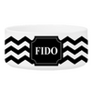 Personalized Small Dog Bowl - Cheerful Chevron - Black - JDS