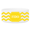 Personalized Small Dog Bowl - Cheerful Chevron - GoldenYellow - JDS