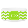 Personalized Small Dog Bowl - Cheerful Chevron - Green - JDS