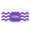 Personalized Small Dog Bowl - Cheerful Chevron - Purple - JDS