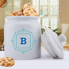 Personalized Initial Motif Cookie Jar -  - Home Decor - AGiftPersonalized