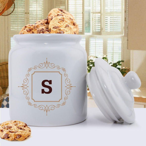 Personalized Initial Motif Cookie Jar -
