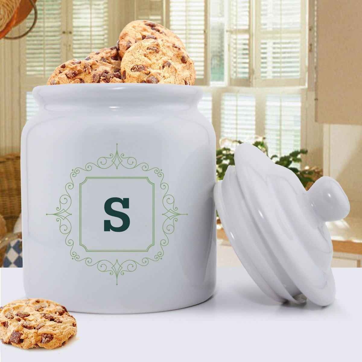 Personalized Initial Motif Cookie Jar