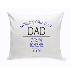 World's Greatest Dad Throw Pillow -