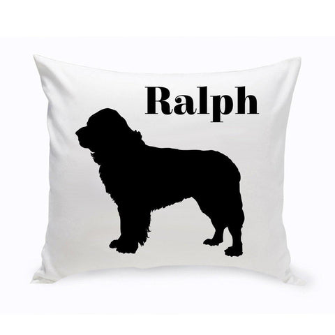 Monogrammed Dog Throw Pillow -  Classic Silhouette - St.Bernard - Pet Gifts - AGiftPersonalized