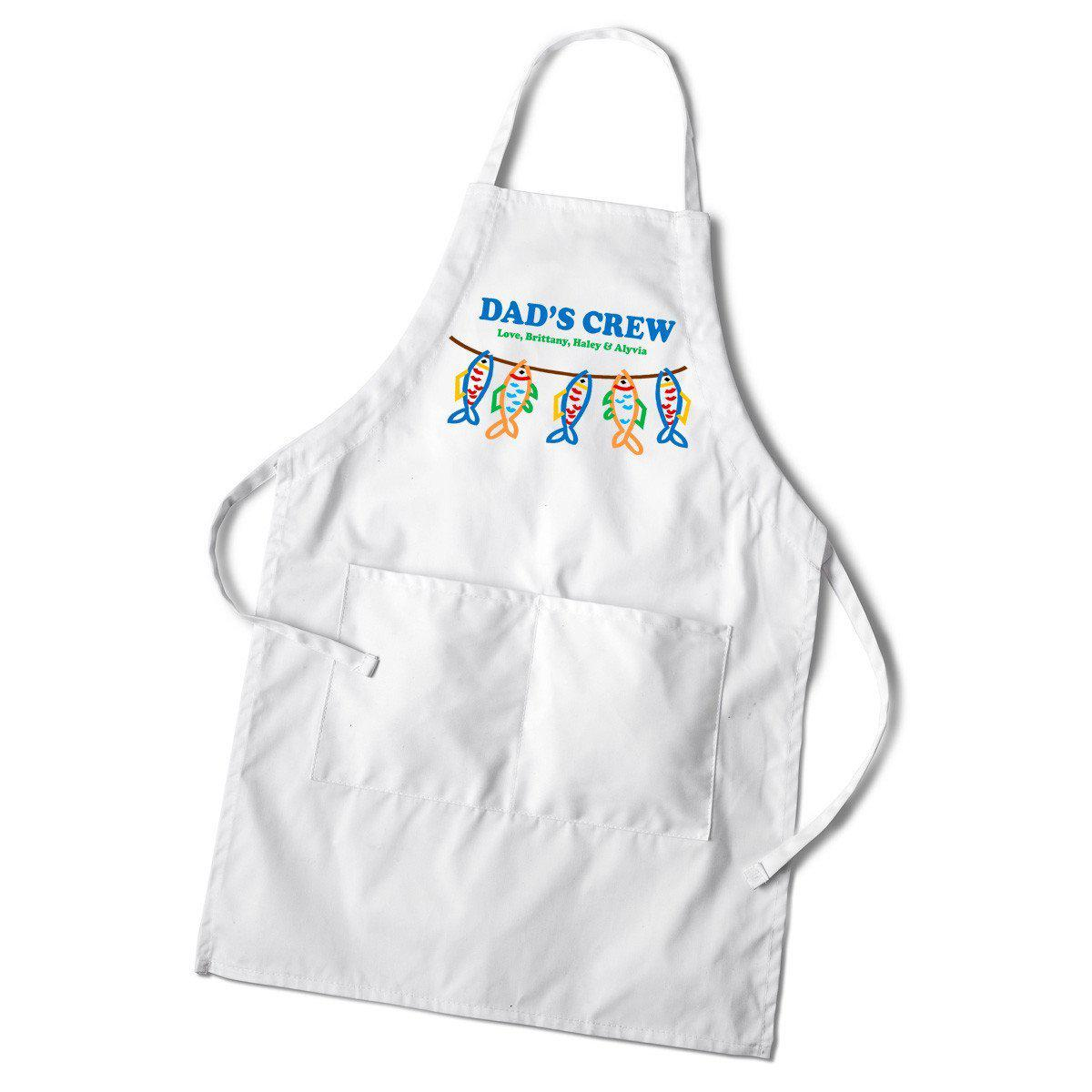 Personalized Dad's White Apron