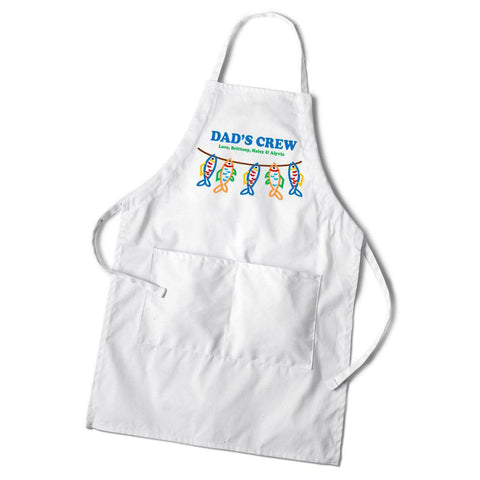 Personalized Dad's White Apron -