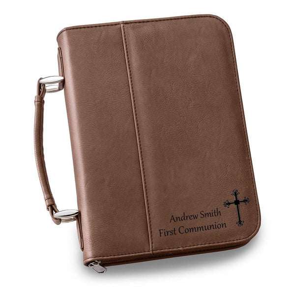 Personalized Leather Bible Cover - 6 Colors - Dark Brown - JDS