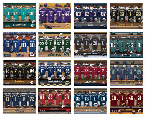 Personalized NFL Locker Room Canvas Signs -  - Canvas Prints - AGiftPersonalized