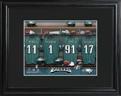 Personalized NFL Locker Sign w/Matted Frame - All Teams - Eagles - Professional Sports Gifts - AGiftPersonalized