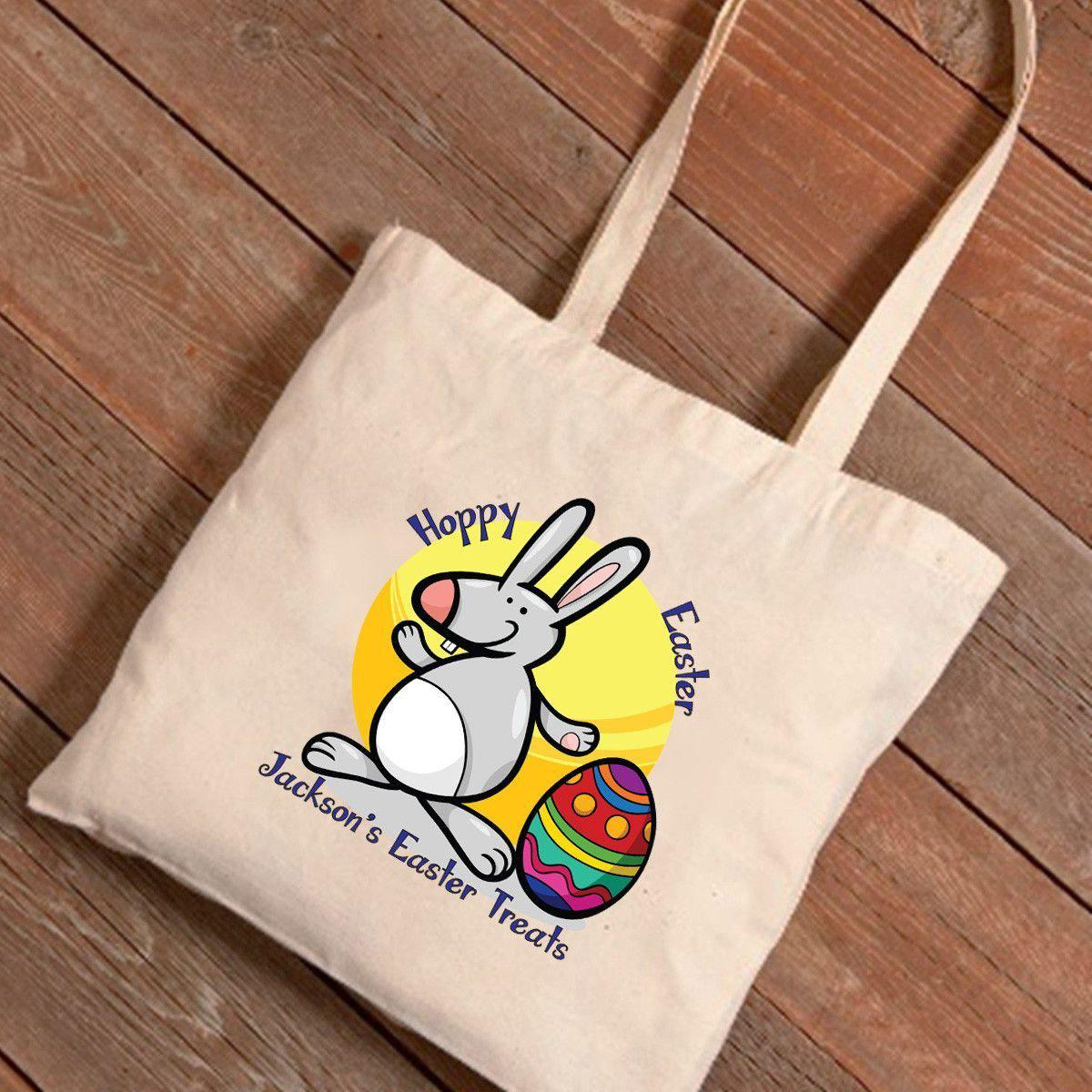 Personalized Easter Treat Canvas Bag