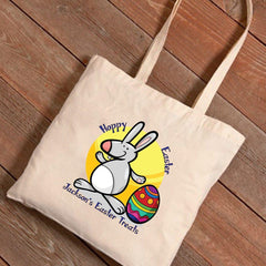 Personalized Easter Treat Canvas Bag -