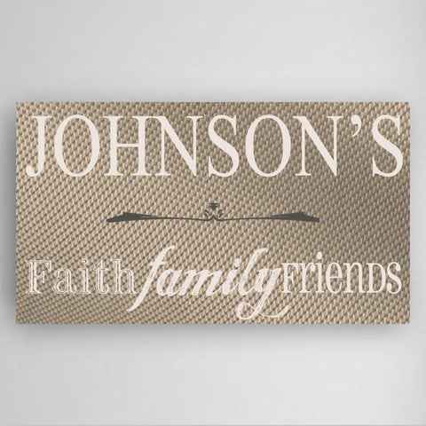 Personalized Faith, Family and Friends Canvas Sign -  - Canvas Prints - AGiftPersonalized