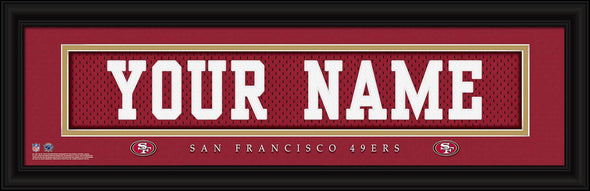 Personalized NFL Stitched Letters Team Print - 49ers - JDS